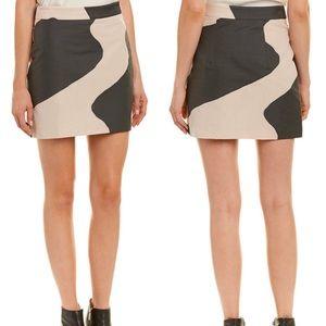 NWT Milly Modern Mini Skirt black/beige 8